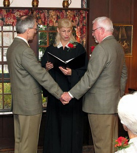 Elegant wedding at The Three Chimneys Inn with officiant Jeanne Pounder, NH Justice of the Peace